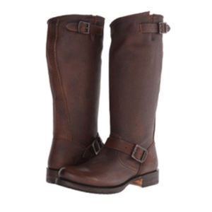 Frye Veronica slouch dark brown boots 8.5