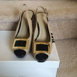 Nine West platform sandals (Taupe/black)