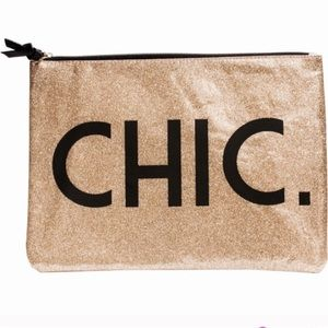 One left!!! Chic large Zip Cosmetic Bag