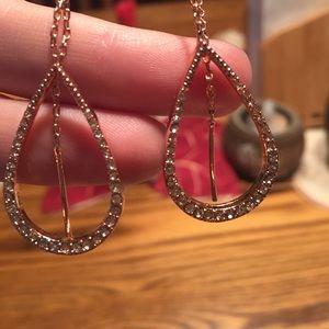 60 off Express Jewelry Express Rose Gold Dangle Teardrop Earings