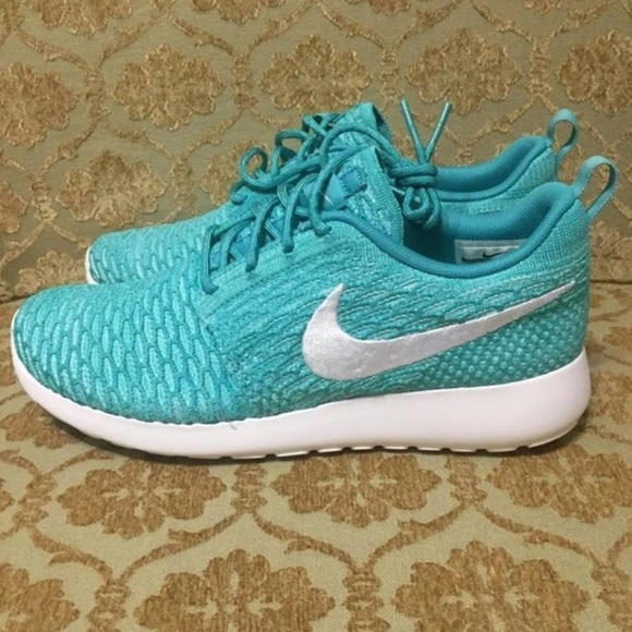 76ff8d3f3bb9 Nike Womens Roshe Run Flyknit Sport Turquoise
