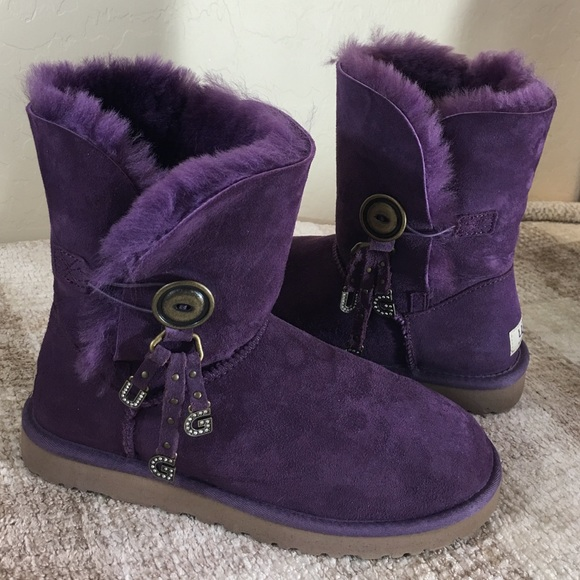 c21b2077346 UGG NEW Purple Suede With Rhinestone Charm Boots🎁