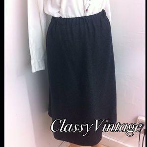 TICA Dresses & Skirts - VINTAGE  100% wool charcoal grey skirt