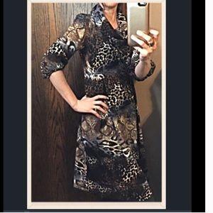 new directions Dresses & Skirts - 🎈BOGO 1/2🎈Soft, Lined Animal Print Dress