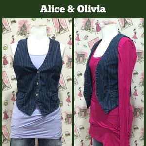 Alice & Olivia Denim Vest