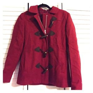 Gap Red Wool Peacoat