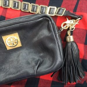 Tory Burch Mini Crossbody Bag in Black Leather