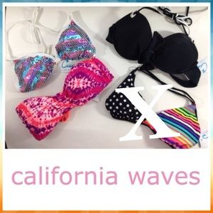 California Waves Other - NEW 3pc CALIFORNIA WAVES bandeau triangl sequined