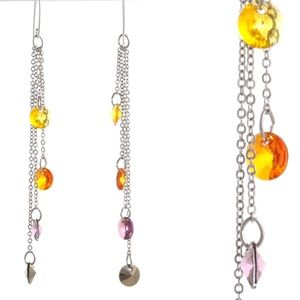 Swarovski rainbow drop earrings