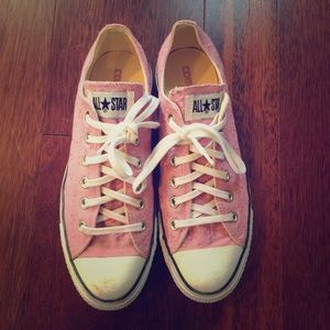 Converse Shoes - Embroidered Pink Converse