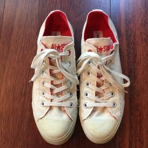 Converse Shoes - Khaki Converse RED