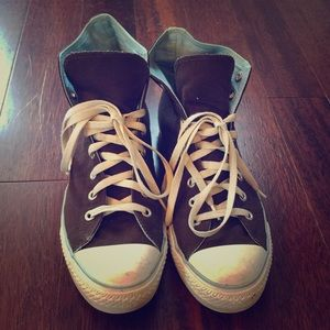 Converse Shoes - Chocolate Brown Converse Hi Tops