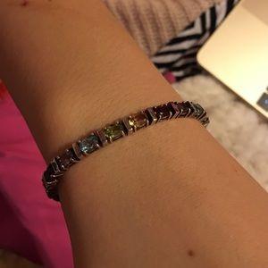 Jewelry - Sterling silver multi color stone bracelet