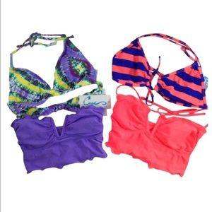California Waves Other - NEW 4pc CALIFORNIA WAVES bra halter tops coral Sm