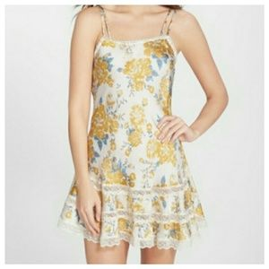 Free People Satin Lace Dress
