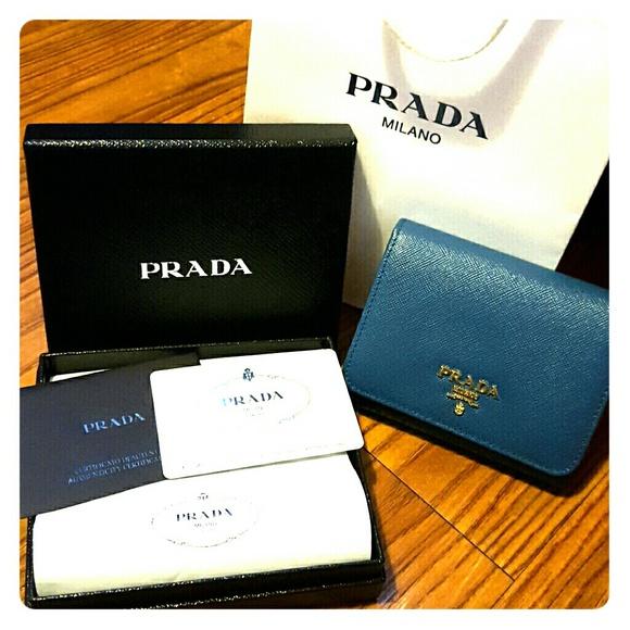 c01a76c3219 Prada Bags | Authentic Wallet In Saffiano Cobalt Blue | Poshmark