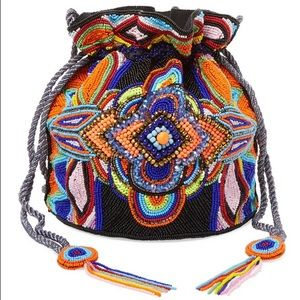 Anti Batik Mini Beaded Bucket Bag