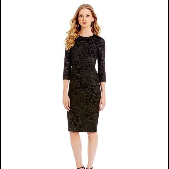Badgley Mischka Dresses | Belle Metallic Floralprint Dress | Poshmark