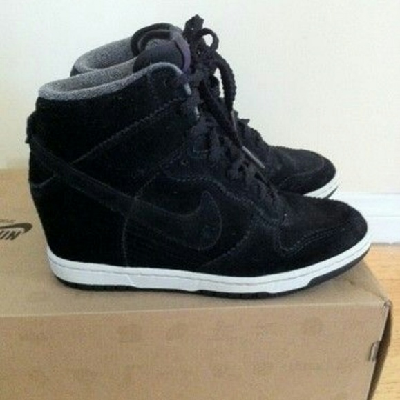 Nike dunk sky high wedge sneaker