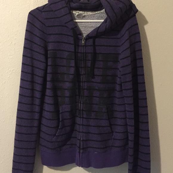 78% off PINK Victoria's Secret Sweaters - PINK VS Purple/Black ...