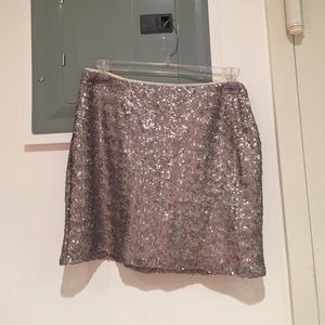 Gap silver sequined mini skirt
