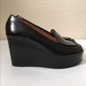b6051cf3428 Robert Clergerie Shoes - Robert Clergerie Black Wedge Loafers