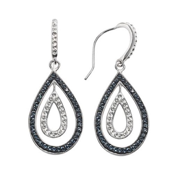 f43b23ac8 Kay Jewelers Jewelry - Sterling 'N' Ice Silver Crystal Teardrop Earrings