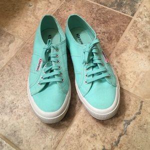 Superga Shoes - Superga mint canvas shoes