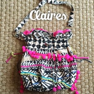 Claire's Handbags - Claires Tribal Colorful Hobo Bag Medium