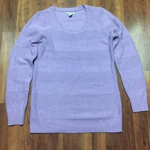 Old Navy Lilac/Lavender  Waffle Weave  Sweater