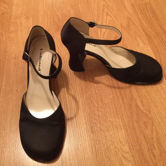 5f790b4abea106 Unlisted Black Satin Rockabilly Shoe. M 565a42ca36d594c2a6004b51