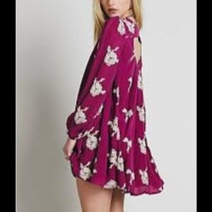 FREE PEOPLE AUSTIN DRESS IN BERRY