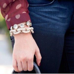 Clear Crystal Brûlée Gem Bracelet