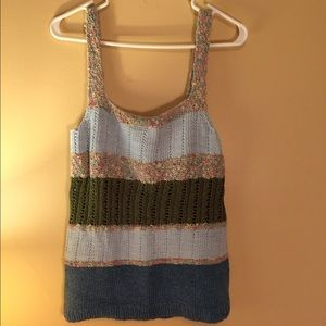 Hand crocheted sweater tank