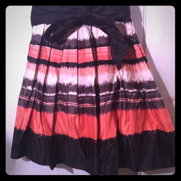 29 h m dresses skirts h m a line orange and black