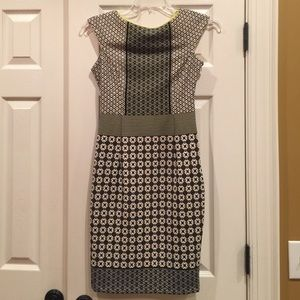 Maggy London Black and White Geometric Dress