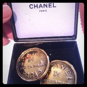 Authentic Chanel clip on earrings. Vintage