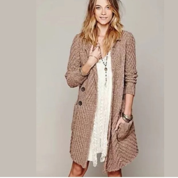 128e1afc63d8 Free People Sweaters - Free People Buttermilk Biscuit Chunky Cardigan