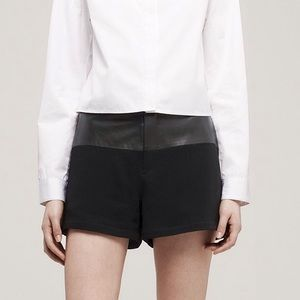 RAG & BONE KELLY LAMBSKIN SHORTS