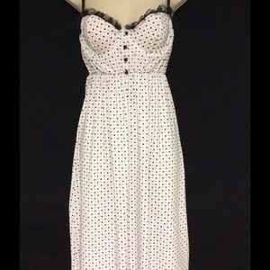 Elegant Moments Polka Dotted Dress size Med. *NEW*