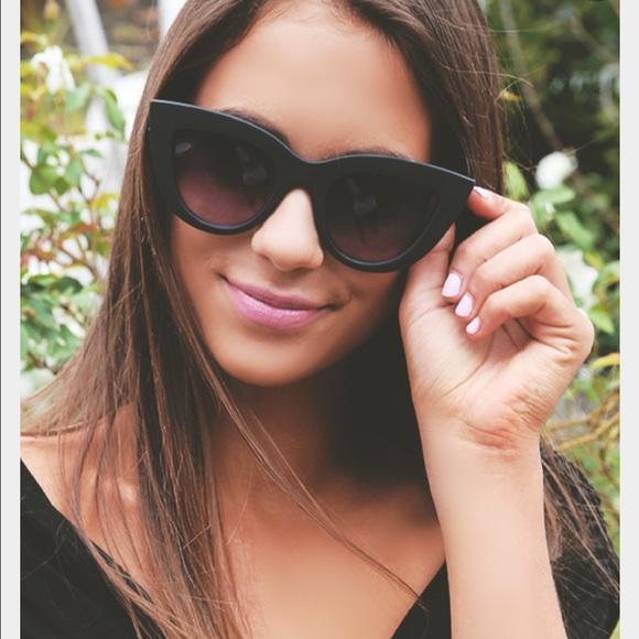 fc34c6cb28880 Accessories - QUAY Kitti Matte Black Cat-Eye Sunglasses