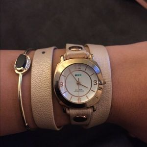 Pearl Leather Wrap Watch