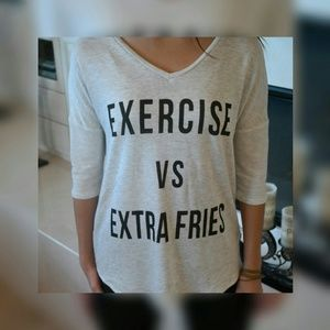 Tops - Exercise Vs. Extra Fries - just reduced 👀