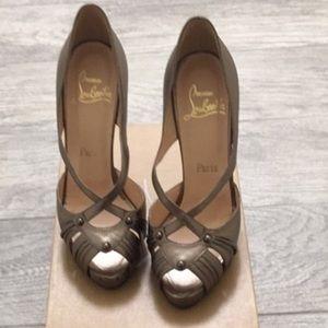 🎊🎉2xHp🎉🎊 Christian Louboutin Scissor Girl Heel