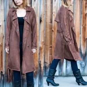 CAMPBELL buttery soft trench coat - CAMEL