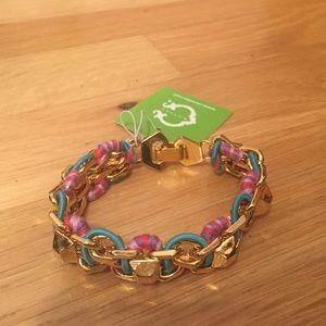 NWT C.Wonder Multicolor Bracelet with Gold hardwa