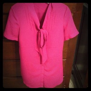 This hot pink blouse fits like a dream!