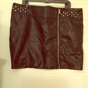 98 forever 21 dresses skirts black faux leather
