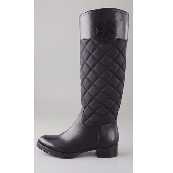 us bootsbooties quilt b riding brown olive quilted boots m i brownolive size tory burch booties regular