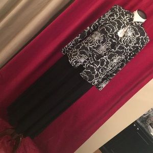 Alex Evenings Dresses & Skirts - Black tank evening gown with sparkles & jacket.